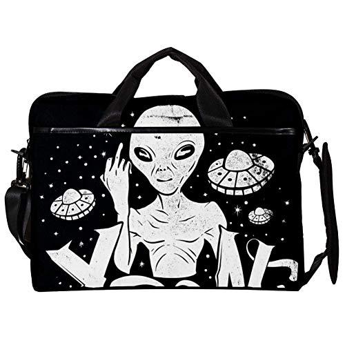 Alien Laptop Case Shoulder Bag for Notebook Computer Tablet with Adjustable Shoulder Strap Canvas Messenger Carrying Briefcase Handbag Sleeve for Woman,Man 15x11x1inch