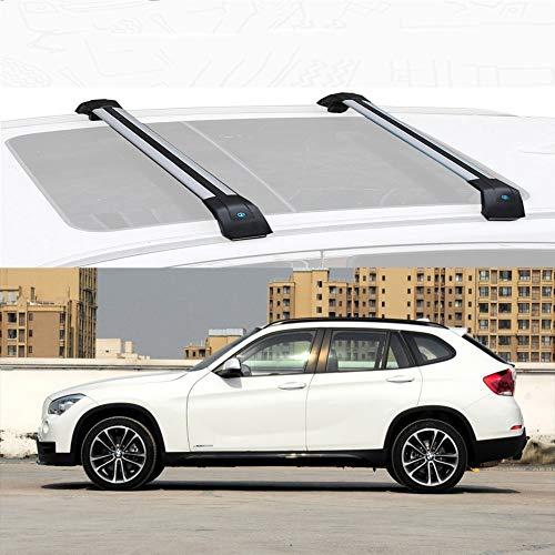 Nologo Compatible con BMW X1 Barra De Carga Baca Portaequipajes De Aluminio for Compatible con BMW X1 2012-20 (Size : For BMW X1 2015)