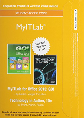 Go! With Technology in Action Myitlab With Pearson Etext Access Card + Office 365 Home Premium Academic Spring 2015 Access Card