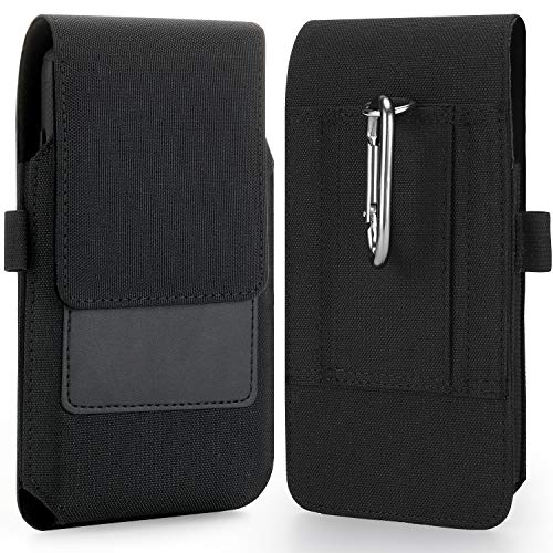 BECPLT Nylon Handy Holster Gürteltasche Handytasche Gürtel Tasche für Samsung Galaxy Note 20 Ultra 5G Note 10+ Plus Note 9 8 S20 Plus S10 Plus S9 Plus iPhone 11 Pro Max Xs Max 8 Plus 7 Plus 6s Plus