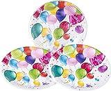 HEKU 30005-222 Einweg-Set mit Tellern, Bechern und Servietten, 120-teilig, Party Ballons - 4