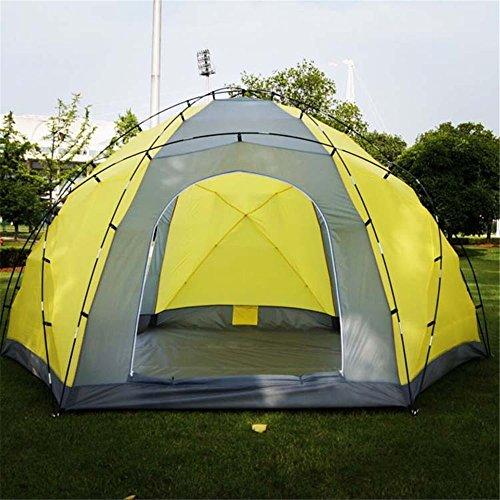 MONEYY Hoher Druck Kunststoff mehr Outdoor NPC Zelte Doppel tri-Gate Mongolei Paket Camping 380 * 380 * 195 cm B