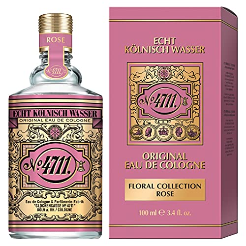 4711 EKW 4711 echt kölnisch wasser i floral collection - rose - eau de cologne - florale neuinterpretation der ikone - romantisch - weiblich - sanft i 100ml natural spray vaporisateur