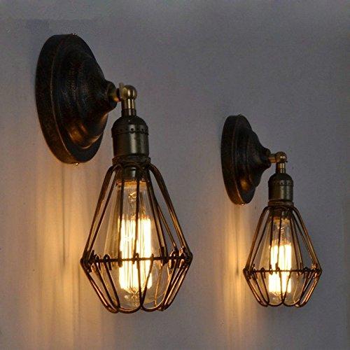 JJZHG wandlamp wandlamp waterdichte wandverlichting retro café restaurant bar tafellamp Creative schaduw slaapkamer nachtwandlamp, zwart bevat: wandlamp, stoere wandlampen