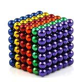 OMO Magnetics マグネットボール 強力磁石立体パズル 216個セット 直径5mm ネオジム磁石 表面にニッケルメッキ カットカードと専用保管ケース付き 脳開発知恵玩具 教育工具 DIY工具 10色選択可能(六色)