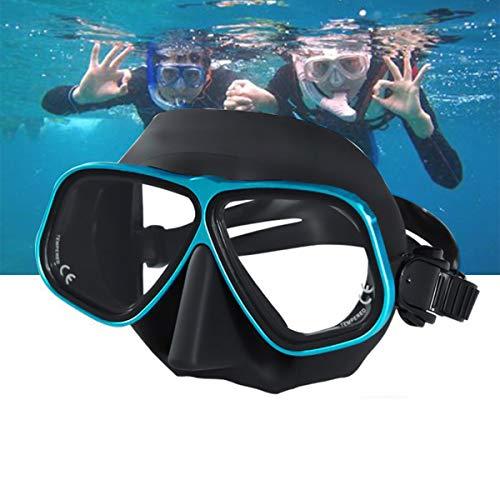 LJXWXN Gafas de natación Gafas de natación antivaho para Adultos Hombres Mujeres Jóvenes con Junta de Silicona Suave, Protección UV Gafas de Piscina, Máscara de natación,Azul
