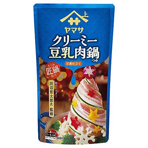ヤマサ醤油 匠鍋 クリーミー豆乳肉鍋つゆ(甘酒仕立て)750gパウチ 3袋