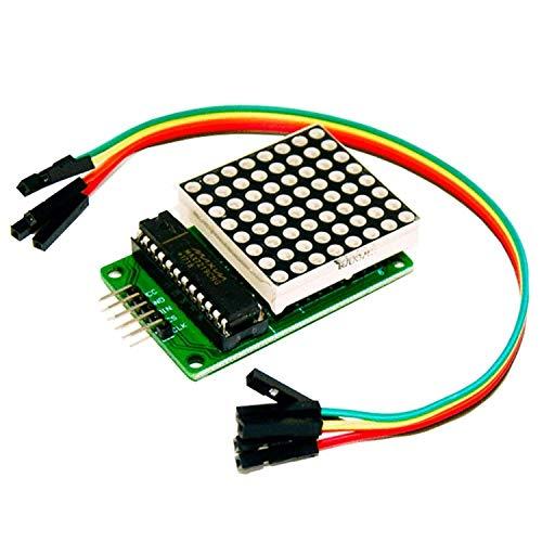 AZDelivery MAX7219 8x8 1 Dot Matriz Modulo de pantalla LED MCU Matrix para Arduino con eBook incluido