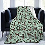 Blanket German Shorthaired Pointer Dog Super Soft Light Weight Cozy Warm Fluffy Plush Throw for Bed Couch Living Room