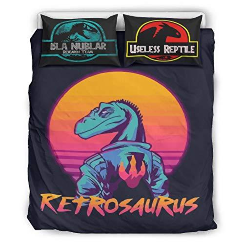 Atag Retrosaurus - Snelheid Raptor 3D Gedrukt Modern Bedding Cover Set 3 Stuks