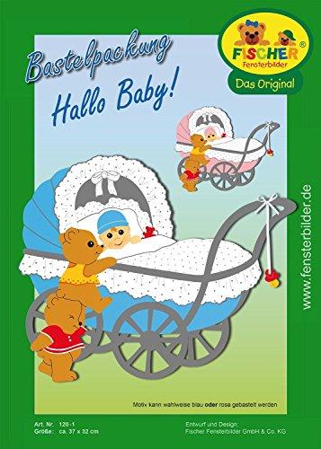 Fischer Fensterbilder Hallo Baby ! / Bastelpackung/ca. 37x32 cm/zum Selberbasteln/Basteln mit Papier und Pappe