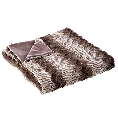 Manta de sofá étnica marrón de poliéster para dormitorio Factory - Lola Derek