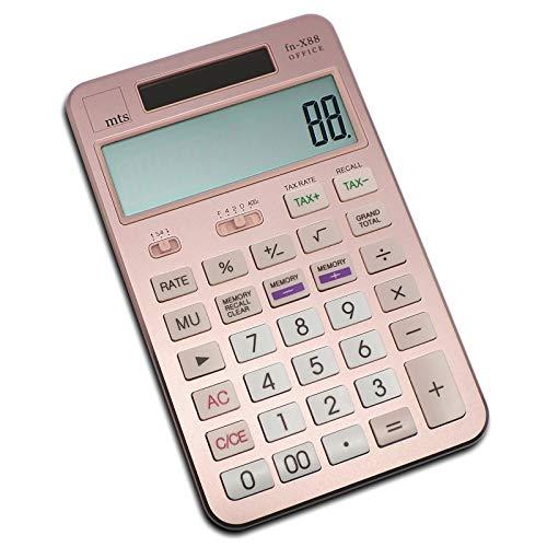 mts Fn-X88 OFFICE rekenmachine rekenmachine rekenmachine bureau goud zilver zwart rose goud 118x110x18mm roségoud