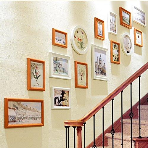 Cadre décoratif Mur photo mur photo couloir composite bois massif cadre combinaison murale (Couleur : C)