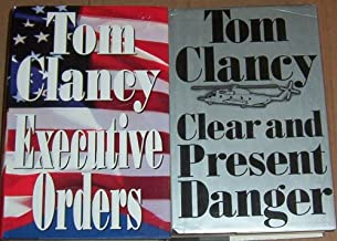 Lot 2 Tom Clancy Hardback Books (Clear and Present Danger BOME & Executive Orders 1st edtion)