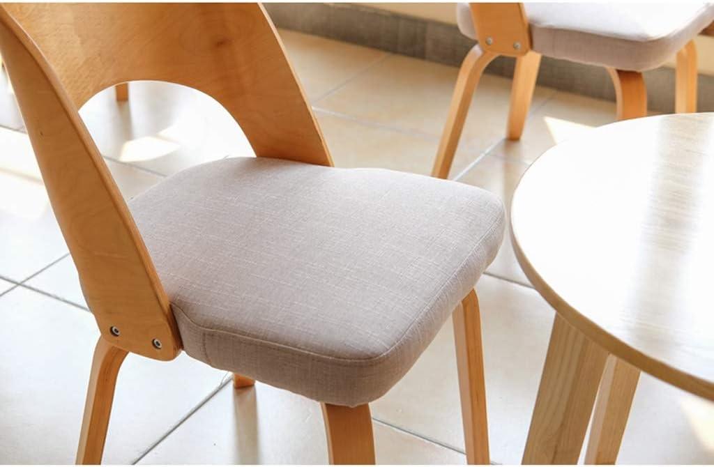 WDX- Chaise de Salle, Chaise de Bureau Simple, créative Dossier, Chaise Loisirs, Maison Adulte Chaise de Salle Confortable (Color : Brown) Gray
