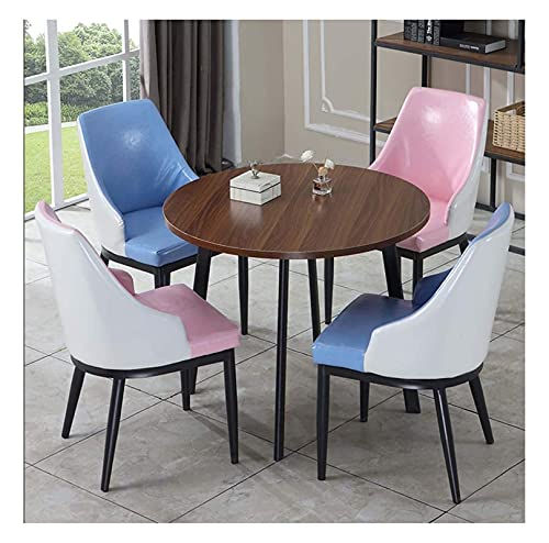 Conjunto de mesa de comedor para cocina o decoraci Mesa de sala de estar y silla combinación de silla tienda tienda de té café cuero 1 mesa 4 sillas panadería pastel de pastel de manicura tienda de ro