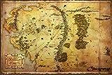 1art1 Der Hobbit - Landkarte Von Mittelerde Poster 91 x 61