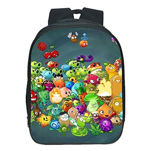 Children backpack Mochilas Infantiles Planta 3D Vs. Mochila Zombies Junior para Niños Y Niñas Mochilas Escolares 6-12 Años - Regalos De La Escuela De Temporada D-33 * 25 * 15CM