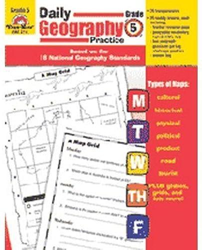 más vendido EVAN EVAN EVAN MOOR Daily Geography Practice, Grade 5 by EVAN-MOOR  primera reputación de los clientes primero