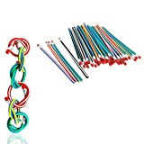 Yueton Pack of 10 Colorful Stripe Magic Flexible...