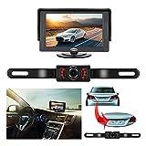 """Backup Camera and Monitor Kit, 4.3"""" TFT LCD Rear View Mirror Monitor Screen+Backup"""