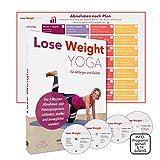 LOSE WEIGHT YOGA Premium DVD Box | 4 Wochen Abnehm-Programm für Körper Geist Gesundheit | Yogaset deutsch: 4 DVDs Trainingsplan, Anleitung über 10 Std. Video Übungen für Bauch, Beine, Po