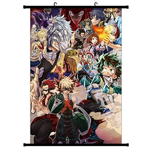 ALTcompluser Anime My Hero Academia - Poster da parete, in tessuto, decorazione da parete per la camera
