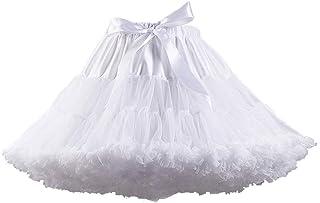 Women's Elastic Waist Chiffon Petticoat Puffy Tutu Tulle...