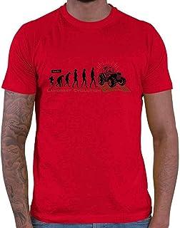 HARIZ Camiseta para hombre, diseño de evolución de agricultores, con texto en alemán