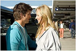 Spread (2009) 8x10 Photo Ashton Kutcher & Anne Heche Face to Face in Sunshine kn