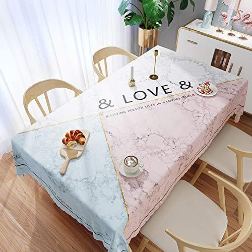 Axwadf Couverture de Table essuyable imperméable de PVC de Nappe de Rectangle étanche, pour la Cuisine extérieure de Pique-Nique dinant la déco-E-54x67 in