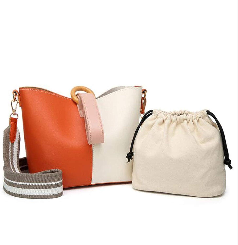 MYYDD PU Leder Handtaschen Ladies Handtaschen Vielseitige Schultertasche Handtasche Handtasche Handtasche Eimer Tasche Crossbody Bag,Orange B07HLLDNVJ  Eleganter Stil 7d6bf6