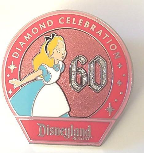 Disney Disneyland 60th Anniversary Diamond Mystery Pin - ALICE IN WONDERLAND by Disney