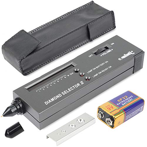 Tweezers for Novice and Expert Include Battery MIUONO Diamond Tester 10x Magnifier