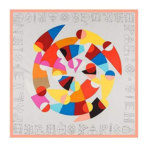 AiKoch 60cm * 60cm Mujeres Bufanda De Seda De La Tela Cruzada del Patrón De La Bufanda Diadema Imprimir Pequeño Fulares Comfortable (Color : 2)