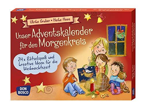 Unser Adventskalender für den Morgenkreis. 24 x Rätselspaß und kreative Ideen für die Weihnachtszeit (Spielen - Lernen - Freude haben. 30 tolle Ideen für Kindergruppen auf DIN-A5-Karten.)