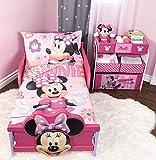 Minnie Mouse Microfiber Sheet Set Toddler 3 Pcs Bedding Set 52' x 28'