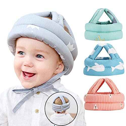 CXZ Baby Head Protector for Crawling,Infant Safety Helmet & Walking Baby Helmet,for Age 6-36 Months (Blue)