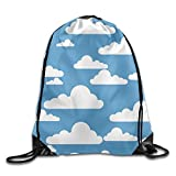 Etryrt Mochilas/Bolsas de Gimnasia,Bolsas de Cuerdas, Cute Clouds Cool Teens Drawstring Backpack Lightweight String Bags Gym