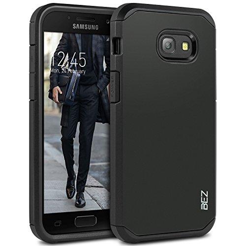BEZ Hülle für Samsung Galaxy A5 2017 Hülle, Handyhülle Kompatibel für Samsung Galaxy A5 2017 Stoßfestes, [Heavy Duty] Outdoor Dual Layer Armor Case Handy Schutzhülle [Shockproof] Robuste - Schwarz
