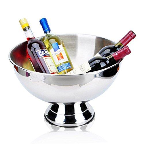 FTC Ice Bucket Secchiello per Champagne in Acciaio Inox Secchiello per Champagne Secchiello per Ghiaccio Secchiello per Ghiaccio Secchiello per Champagne 13,5 Litri