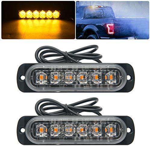 Emergency Strobe Lights for Trucks Universal Amber Recovery Car 6 LED Lighting Bar Emergency product image