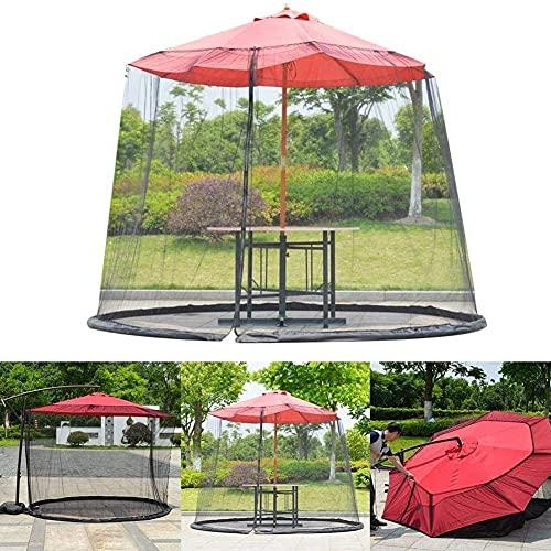 RDJSHOP Cubierta de Mosquito de jardín Umbrella Sun Parasol Table Net Screen Net Malla Clave Se Adapta a Paraguas y Patio para Gazebos Parasoles