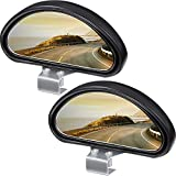 2 Pieces Blind Spot Mirrors Adjustable Car Auxiliary Mirrors Auto Wide Angle Mirrors HD Convex Rearview Mirrors Blind Spot Angle Auxiliary Mirrors for Car Truck SUV Motorcycle