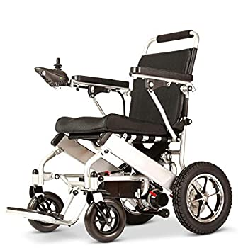 Deluxe Fold Foldable Power Compact Mobility Aid Wheel Chair Lightweight Folding Carry Electric Wheelchair Motorized Wheelchair Powerful Dual Motor Wheelchair