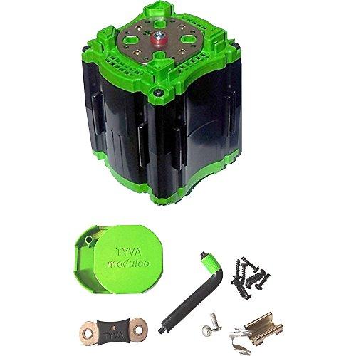 Batterijhouder 8X 18650 TYVA Moduloo SKMOD 8S1P-1 schroefaansluiting M4 (LxBxH) 75 x 75 x 106 mm