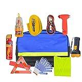 iBaste Auto Werkzeugkoffer, Multifunktional Auto Notfall Werkzeugset/Pannenhilfe Set/Auto Sicherheit Kit mit Handtasche, Tolles Kit für die Meisten Automatischen Notfälle