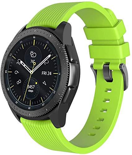 Chainfo Correa de Reloj 20mm, Impermeable Reemplazo Correas Reloj Silicona Banda (20mm, Lima)
