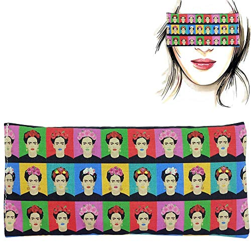 Almohada para los ojos 'Frida Kahlo' | Semillas de Lavanda y arroz | Yoga, Meditación, Relajación, descanso de ojos...